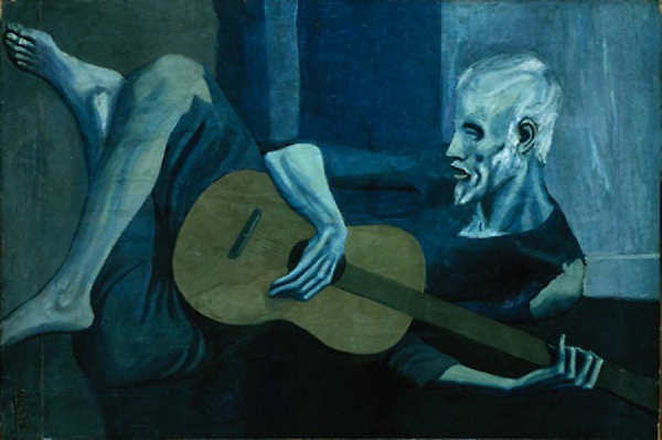 The Old Guitarist by Picasso